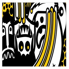 Easter Monster Sinister Happy Magic Rock Mask Face Polka Yellow Large Satin Scarf (square)