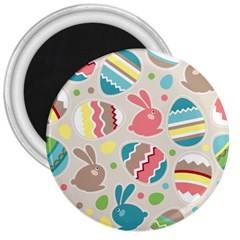 Easter Rabbit Bunny Rainbow 3  Magnets by Mariart