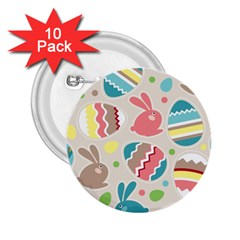 Easter Rabbit Bunny Rainbow 2 25  Buttons (10 Pack)