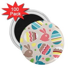Easter Rabbit Bunny Rainbow 2 25  Magnets (100 Pack)  by Mariart