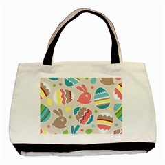 Easter Rabbit Bunny Rainbow Basic Tote Bag by Mariart