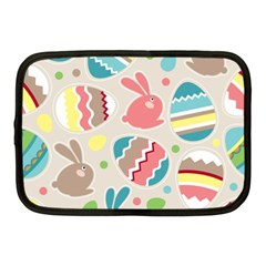 Easter Rabbit Bunny Rainbow Netbook Case (medium)  by Mariart