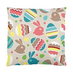 Easter Rabbit Bunny Rainbow Standard Cushion Case (two Sides) by Mariart