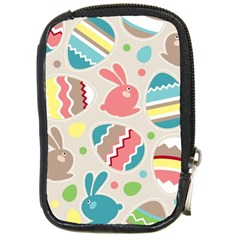 Easter Rabbit Bunny Rainbow Compact Camera Cases by Mariart