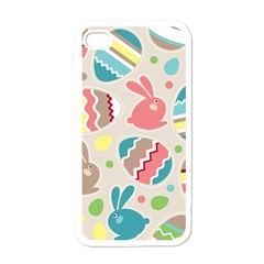 Easter Rabbit Bunny Rainbow Apple Iphone 4 Case (white) by Mariart