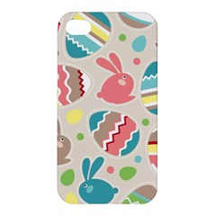 Easter Rabbit Bunny Rainbow Apple Iphone 4/4s Hardshell Case by Mariart