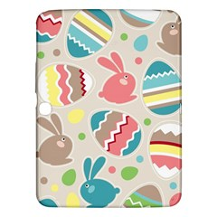 Easter Rabbit Bunny Rainbow Samsung Galaxy Tab 3 (10 1 ) P5200 Hardshell Case  by Mariart