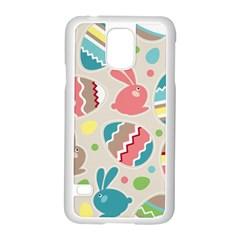 Easter Rabbit Bunny Rainbow Samsung Galaxy S5 Case (white) by Mariart