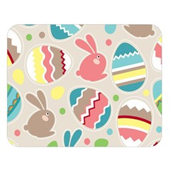 Easter Rabbit Bunny Rainbow Double Sided Flano Blanket (large)  by Mariart