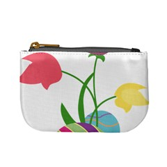 Eggs Three Tulips Flower Floral Rainbow Mini Coin Purses by Mariart