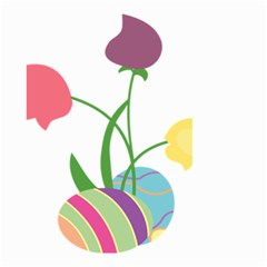 Eggs Three Tulips Flower Floral Rainbow Small Garden Flag (two Sides)