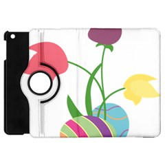 Eggs Three Tulips Flower Floral Rainbow Apple Ipad Mini Flip 360 Case by Mariart
