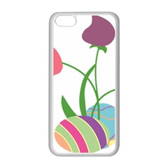 Eggs Three Tulips Flower Floral Rainbow Apple Iphone 5c Seamless Case (white) by Mariart