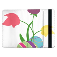 Eggs Three Tulips Flower Floral Rainbow Samsung Galaxy Tab Pro 12 2  Flip Case by Mariart