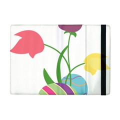 Eggs Three Tulips Flower Floral Rainbow Ipad Mini 2 Flip Cases