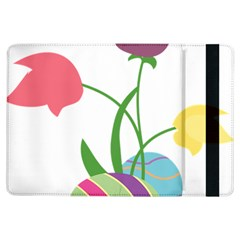Eggs Three Tulips Flower Floral Rainbow Ipad Air Flip by Mariart