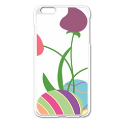 Eggs Three Tulips Flower Floral Rainbow Apple Iphone 6 Plus/6s Plus Enamel White Case by Mariart