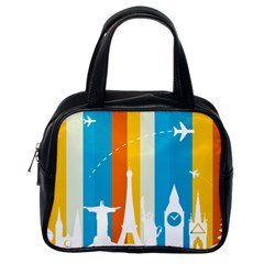 Eiffel Tower Monument Statue Of Liberty Classic Handbags (one Side) by Mariart
