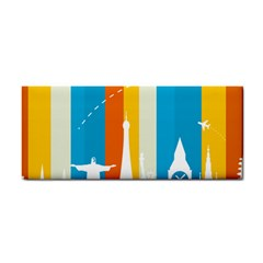 Eiffel Tower Monument Statue Of Liberty Cosmetic Storage Cases by Mariart