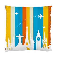 Eiffel Tower Monument Statue Of Liberty Standard Cushion Case (two Sides)