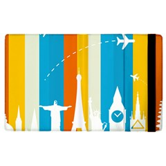 Eiffel Tower Monument Statue Of Liberty Apple Ipad 2 Flip Case by Mariart