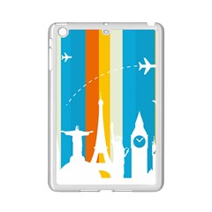 Eiffel Tower Monument Statue Of Liberty Ipad Mini 2 Enamel Coated Cases by Mariart