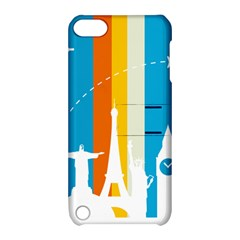 Eiffel Tower Monument Statue Of Liberty Apple Ipod Touch 5 Hardshell Case With Stand by Mariart