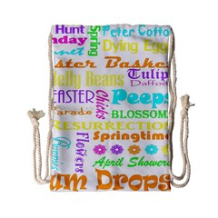 Easter Subway Blossoms Color Rainbow Chocolate Drawstring Bag (small) by Mariart