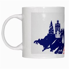 Eiffel Tower Monument Statue Of Liberty France England Red Blue White Mugs by Mariart