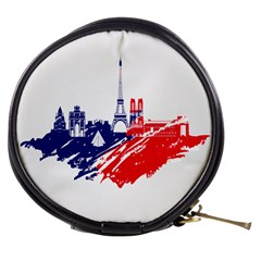 Eiffel Tower Monument Statue Of Liberty France England Red Blue Mini Makeup Bags by Mariart