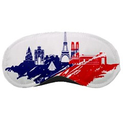 Eiffel Tower Monument Statue Of Liberty France England Red Blue Sleeping Masks by Mariart