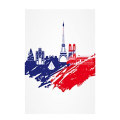 Eiffel Tower Monument Statue Of Liberty France England Red Blue Shower Curtain 48  X 72  (small)  by Mariart