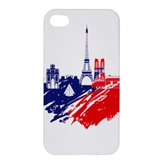 Eiffel Tower Monument Statue Of Liberty France England Red Blue Apple Iphone 4/4s Hardshell Case by Mariart