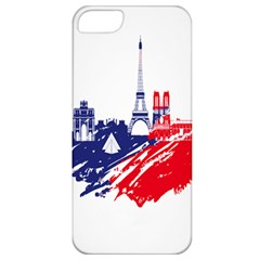Eiffel Tower Monument Statue Of Liberty France England Red Blue Apple Iphone 5 Classic Hardshell Case by Mariart