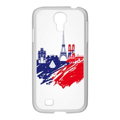 Eiffel Tower Monument Statue Of Liberty France England Red Blue Samsung Galaxy S4 I9500/ I9505 Case (white)