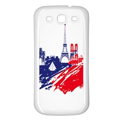Eiffel Tower Monument Statue Of Liberty France England Red Blue Samsung Galaxy S3 Back Case (white)