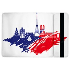 Eiffel Tower Monument Statue Of Liberty France England Red Blue Ipad Air 2 Flip by Mariart