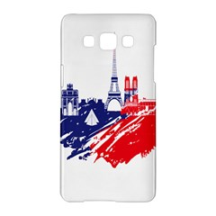 Eiffel Tower Monument Statue Of Liberty France England Red Blue Samsung Galaxy A5 Hardshell Case  by Mariart