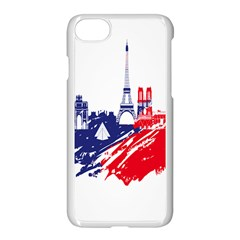 Eiffel Tower Monument Statue Of Liberty France England Red Blue Apple Iphone 7 Seamless Case (white) by Mariart