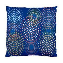 Fireworks Party Blue Fire Happy Standard Cushion Case (one Side) by Mariart