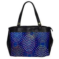 Fireworks Party Blue Fire Happy Office Handbags