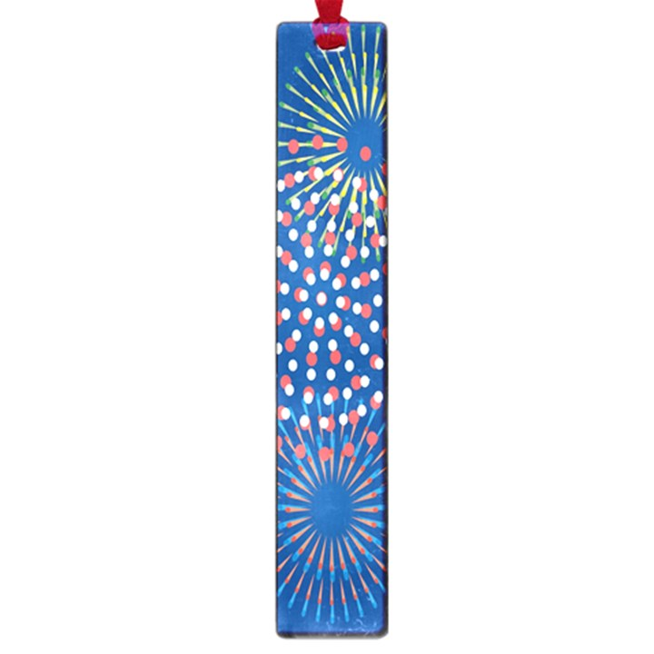 Fireworks Party Blue Fire Happy Large Book Marks