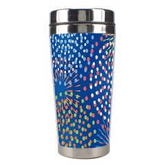 Fireworks Party Blue Fire Happy Stainless Steel Travel Tumblers by Mariart