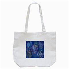 Fireworks Party Blue Fire Happy Tote Bag (white) by Mariart