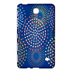 Fireworks Party Blue Fire Happy Samsung Galaxy Tab 4 (8 ) Hardshell Case  by Mariart