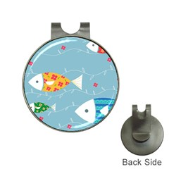 Fish Cute Swim Blue Sea Hat Clips With Golf Markers by Mariart