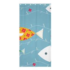 Fish Cute Swim Blue Sea Shower Curtain 36  X 72  (stall)  by Mariart