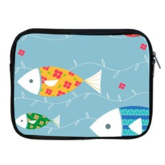 Fish Cute Swim Blue Sea Apple Ipad 2/3/4 Zipper Cases by Mariart