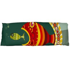 Fish Predator Sea Water Beach Monster Body Pillow Case Dakimakura (two Sides) by Mariart