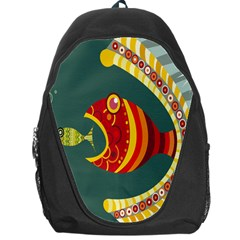 Fish Predator Sea Water Beach Monster Backpack Bag by Mariart
